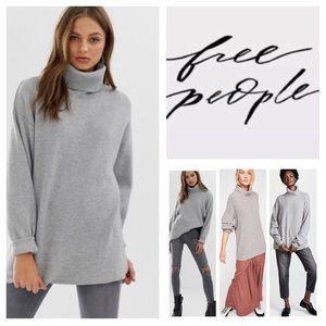 Fre People Softly Structured Tunic Sweater.  NWT.